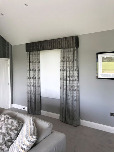 Vale of Glamorgan Lutron Blind Behind Pelmet 2