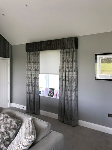 Vale of Glamorgan Lutron Blind Behind Pelmet 1
